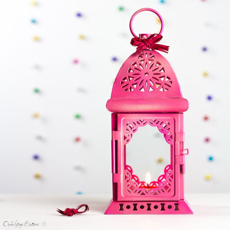 Gift for Her Valentine's Day Pink Lantern Moroccan Decor-Filigree Pink Metal Candle Holder-Wedding Decoration-Baby Girl Shower Nursery Decor