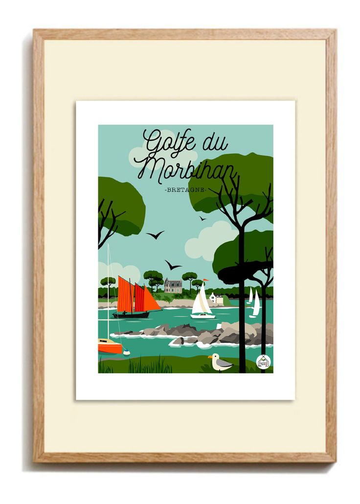 Poster Cap Ferret The Lighthouse 30x40cm Sea Bath Series Poster Illustration Lighthouse