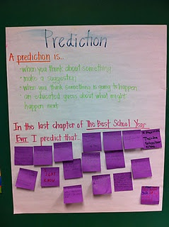 Teaching Prediction--Interactive ways to get students engaged on classroom read alouds or this can be used for individual reading.  Students can make predictions about their books and post it on the board.