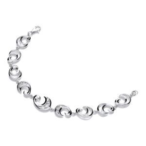 Rhodium finished silver Bracelet with Swarowski Zirconia