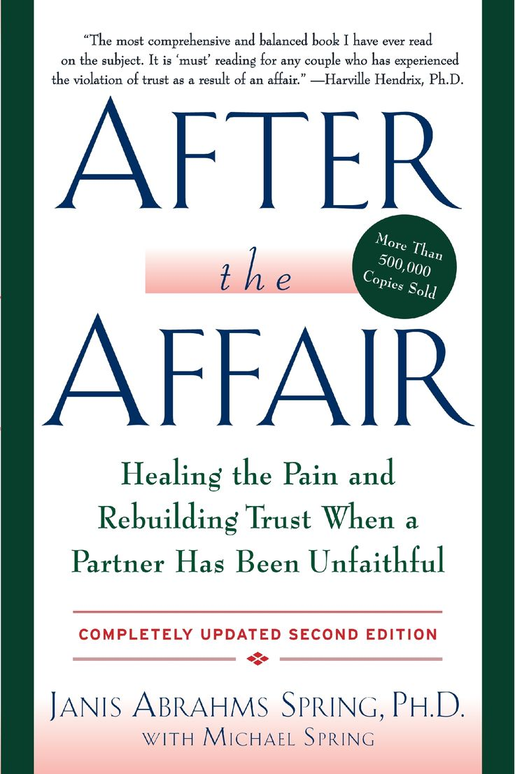 After the Affair by Janis Abrahams Spring.  Many of our clients have found this book helpful because it realistically looks at the feelings and emotions of both parties.  We thoroughly recommend it.