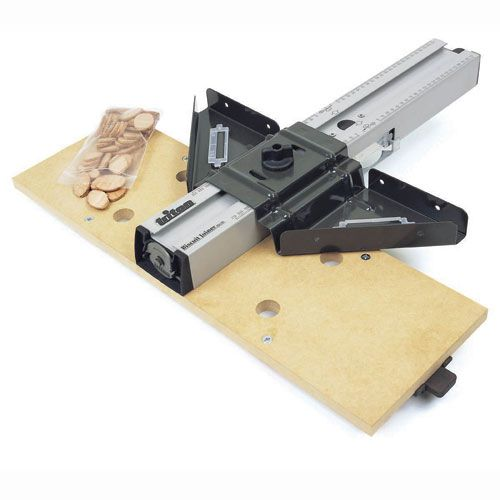Tritons Unique Biscuit Jointer quickly fits to the Triton Router Table for fast strong and invisible joints Ideal for bevel mitre...