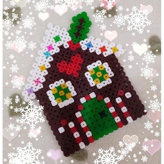 Gingerbread house - Christmas hama beads by erika_cleo