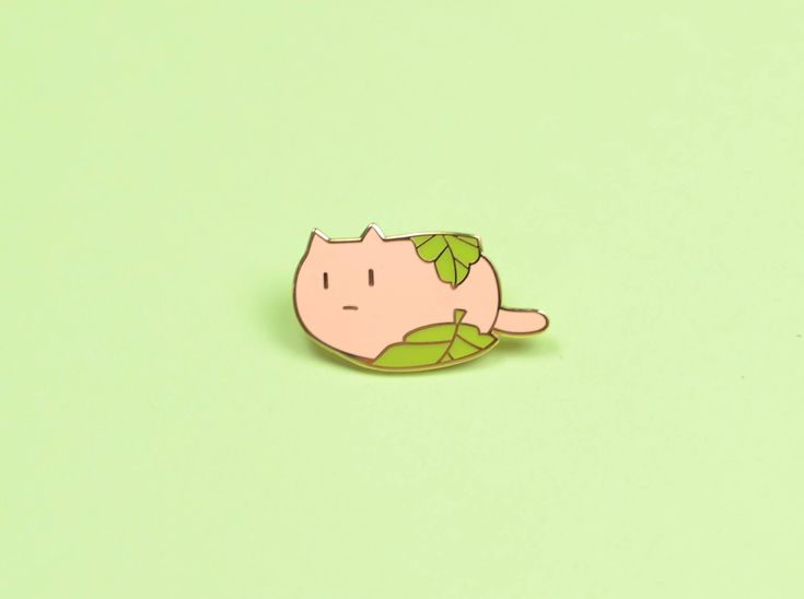 Sakura Cat Mochi Hard Enamel Pin by Puffiology on Etsy