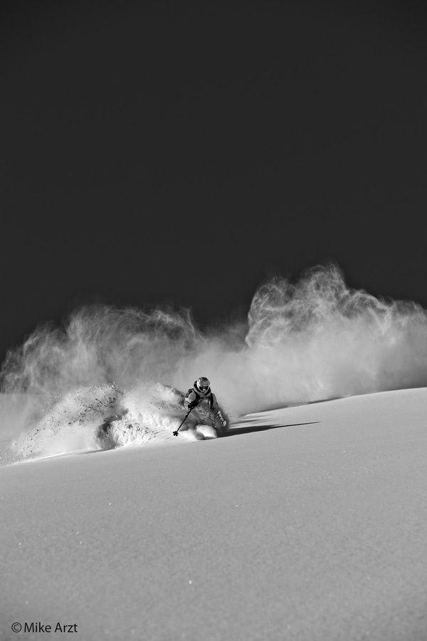 Daron Rahlves Blazing fresh tracks in @Jean Baker Resort Colorado