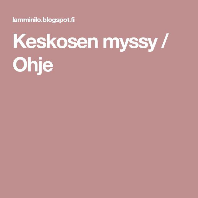 Keskosen myssy / Ohje