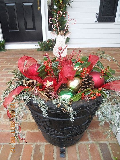 great idea for those empty pots on your porch!