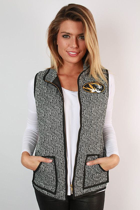 University Of Missouri Herringbone Vest