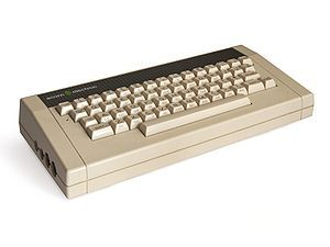 Blast from the past!  The Acorn Electron was a budget version of the BBC Micro educational/home computer made by Acorn Computers Ltd. It had 32 kilobytes of RAM, and its ROM includes BBC BASIC along with its operating system.