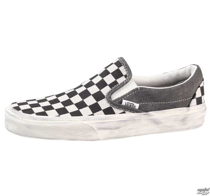 Vans shoes - Classic Slip-On (Overwashed) - Black / Check