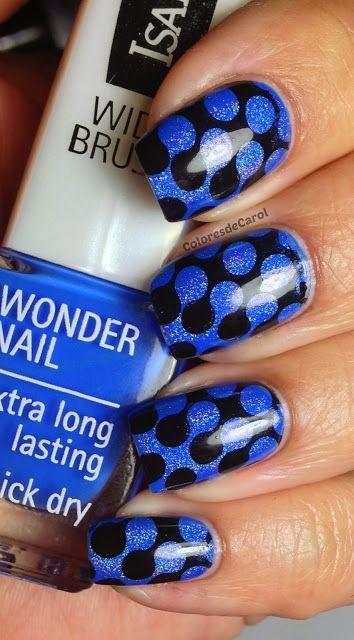 #Manicure #Monday with #Capri #Jewelers #Arizona ~ www.caprijewelersaz.com ♥ black & blue
