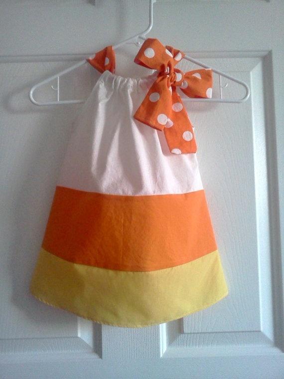 Candy corn dress super cute - @Kari Kinsey - as much as you love candy corn Harper needs a dress like this!