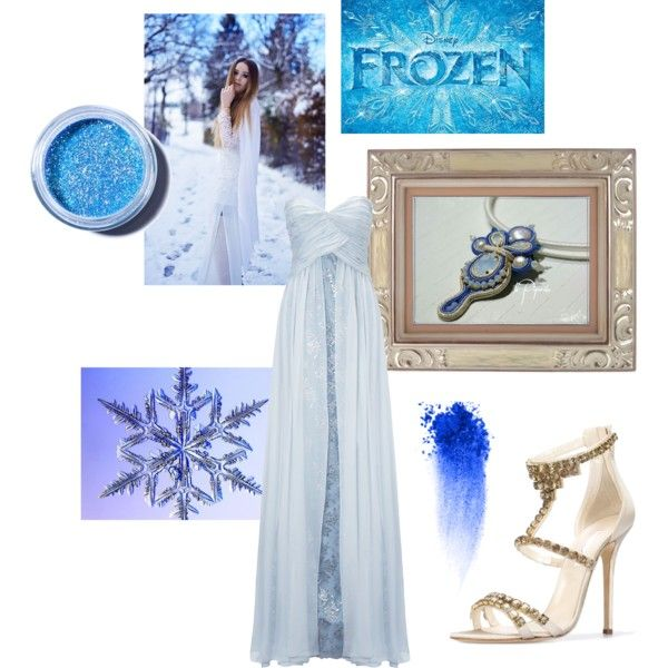 "soutache pendant ""Frozen"" by veronica-papi on Polyvore featuring moda, Ariella, Oscar de la Renta, NARS Cosmetics, Lime Crime and National Geographic Home"