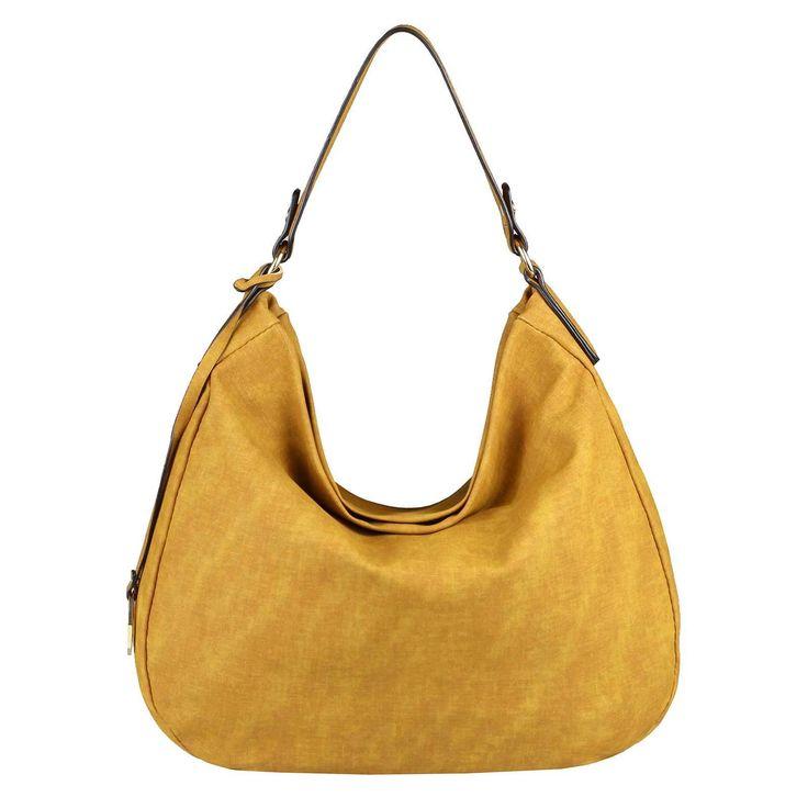 . DAMEN HAND-TASCHE SHOPPER Hobo-Bag Henkeltasche Schultertasche Umhängetasche CrossOver Damentasche Leder optik Beuteltasche Gelb