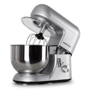 Klarstein Bella Argentea – Robot de cuisine multifonction – robot patissier tout-en-un : fouet, pétrin, crochet… (1200W, bol mélangeur en…