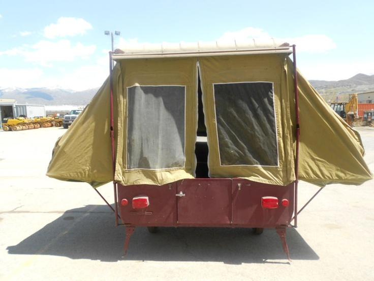 Vintage 1969 camel oasis tent travel trailer camper pop up for Camping a couture 49
