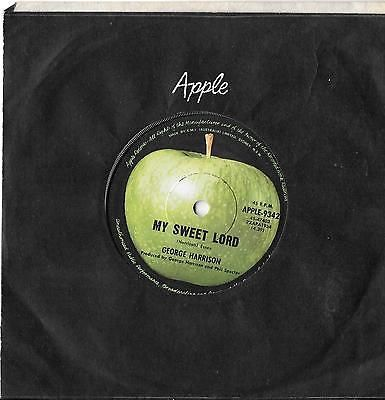 george harrison my sweet lord made in Australia Apple Records excellent
