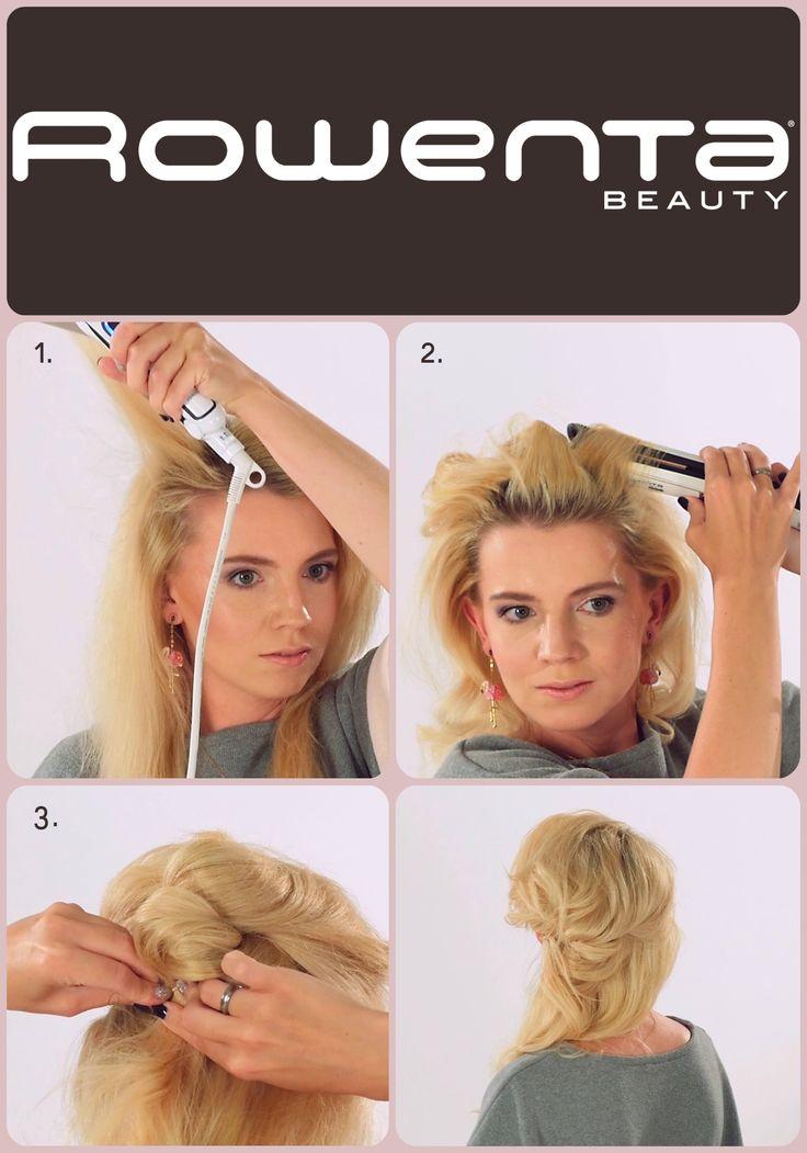 Elegancki zawijaniec  Krok 1. Unieś włosy od nasady przy pomocy VOLUM'24 Krok 2. Zrób luźne fale, używając prostownicy RESPECTISSIM 7/7 Krok 3. Podziel włosy na dwie części, z górnej zapleć 2 pukle i podepnij jeden nad drugim #Respectissim #Rowenta #RowentaPolska #fryzura #włosy #hair #hairstyle #hotd #fryzjer #wlosomania #wlosomaniaczka #wlosomaniaczki #hairmania #hairgoals #haircolor #curls #waves #straightner #volum #wavy #straight #easy #tutorial #stepbystep