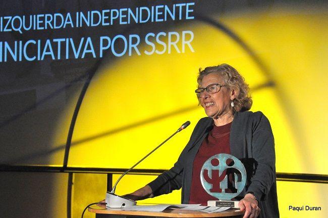 Carmena Y Garzon Reciben Los Premios De Izquierda Independiente