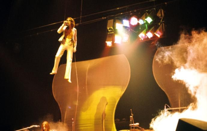 """The prog-rock pioneers embraced extravagance. Concertgoers could savor a new electronic keyboard called a Mellotron, a singer dressed as a batlike alien commander, an allusion to a John Keats poem, and a philosophical allegory about humankind's demise—all in the space of a single song (""""Watcher of the Skies,"""" by Genesis)."""
