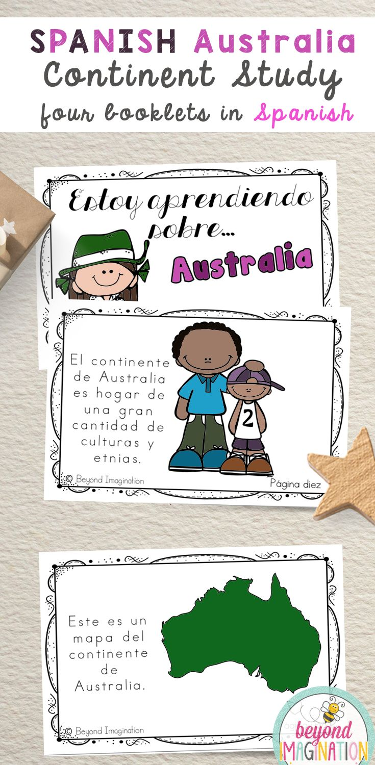 SPANISH Australia Fun Fact continent study booklet is perfect to use for an around the world unit, an international day, an international festival, a social studies unit, a cultural school project, a geography project, a cultural day, a cultural fair, a field day, or a multicultural day. #Australia #spanish #resource #continent #booklet #tpt