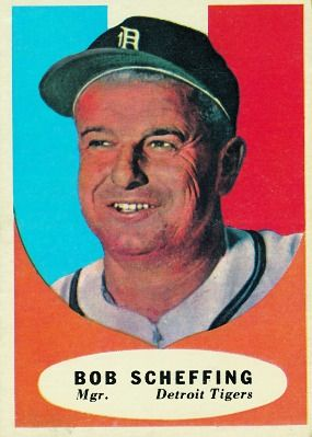 Bob Scheffing 1961 Manager - Detroit Tigers  Card Number: 223