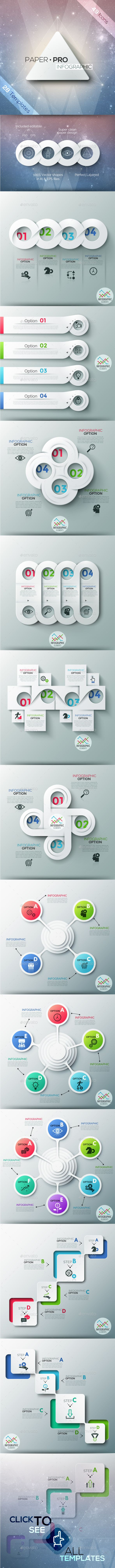 Paper-Pro Infographic Design - Infographic Template PSD, Vector EPS, AI Illustrator. Download here: http://graphicriver.net/item/paperpro-infographic/16717121?s_rank=39&ref=yinkira
