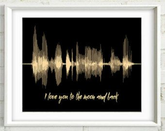 Personalized Anniversary Message All of Me by ArtsyVoiceprint