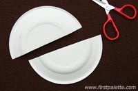 Step 1 Paper Plate Sailboat craft