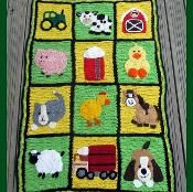 Farm Blanket Complete eBook - via @Craftsy