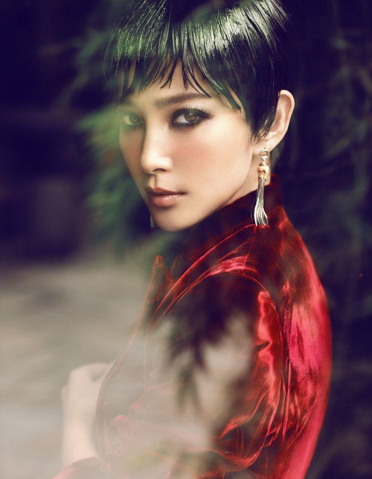 """Waiting Alone""   Model: Li Bing Bing, Photographer: Chen Man, Vogue China, October 2012"