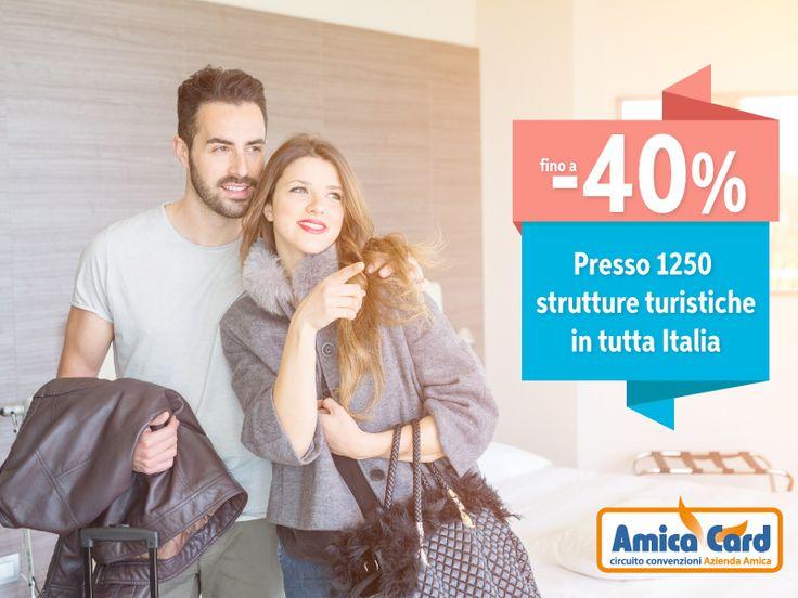 FIRENZE, ROMA O VENEZIA? CONCEDITI UN SOGGIORNO ROMANTICO...E CONVENIENTE. Scegli una destinazione in tutta Italia dove passare le vacanze di Natale con la tua dolce metà e risparmia sul tuo soggiorno fino al 40% presso oltre 1250 strutture turistiche convenzionate Amica Card. Registrati subito e scarica gli #sconti su AmicaCard.it #viaggi #vacanze #Natale2016 #amicacard #convenzioni #holiday