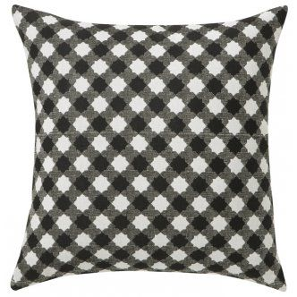 $52 Special Receive 10% Discount / use coupon: 10%dis at check out  Cushions & Covers – Rapee Australia Ezra Black Design This Ezra Black cushion would be a beautiful addition to any home. Suitable for the sitting room, bedroom, or in the living room. The Ezra Black cushion would make the perfect gift Cushion Details: · Ezra Black cushion · Cushion size: 45cm Reversible Knife Edged Woven Cushion · Material: Polyester / Cotton · Colour: Black