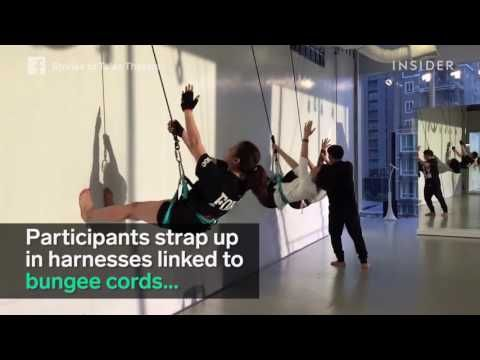 Dancing with bungee cords is an amazing workout - YouTube