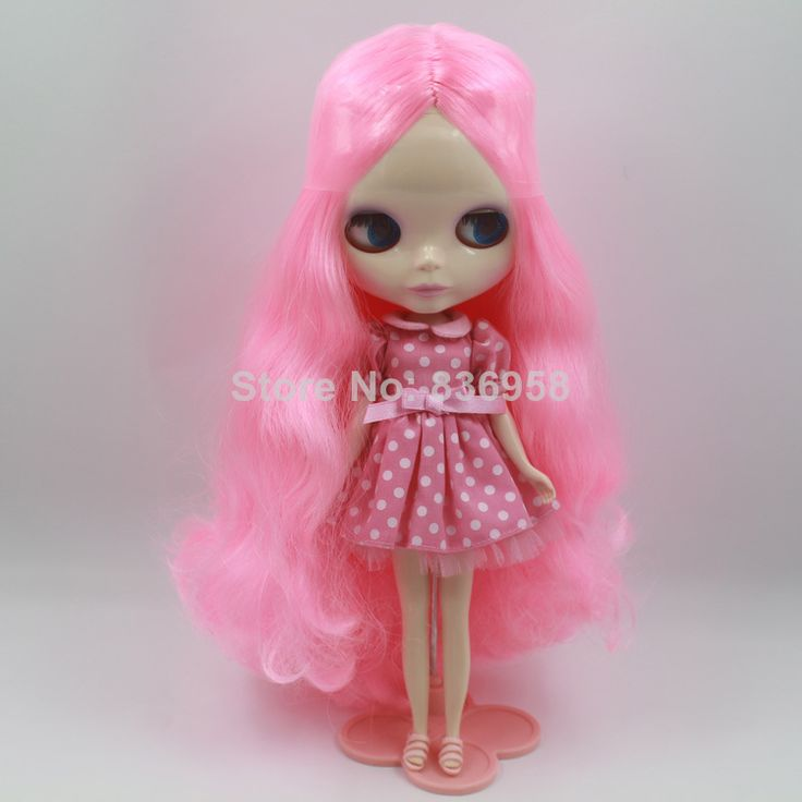 Fresh Pink Curly  Long Hair Nude Blythe Doll New Listing $64.80