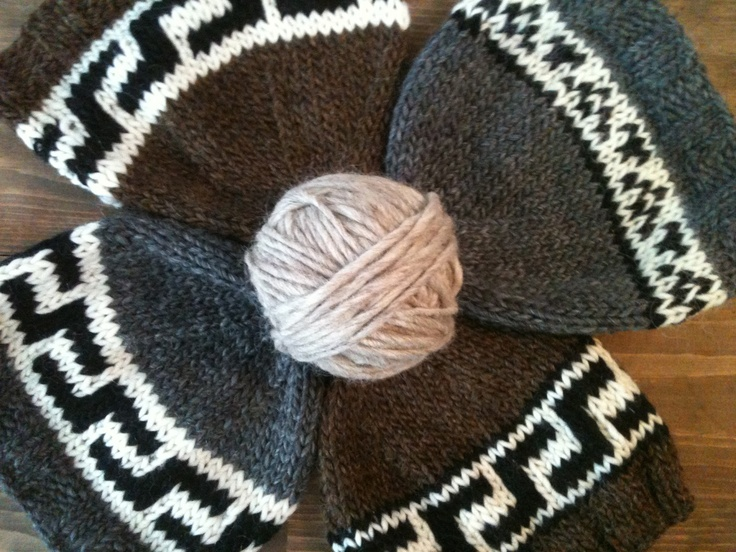 easy to knit cowichan toques! pattern can be found at www.natasharosesmusings.blogspot.com