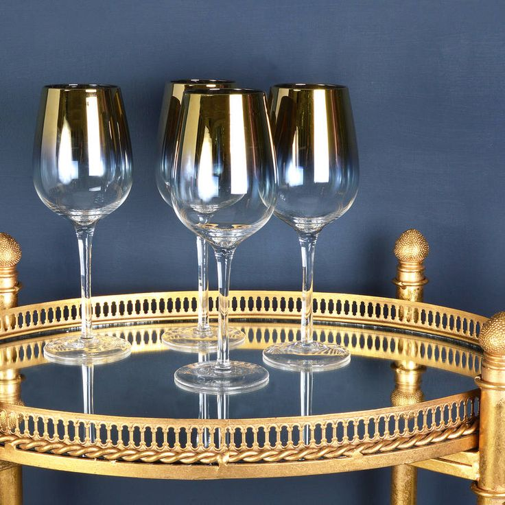 I've just found Gold Wine Glasses, Set Of Four. Beautiful set of 4 gold wine glasses.. £37.50