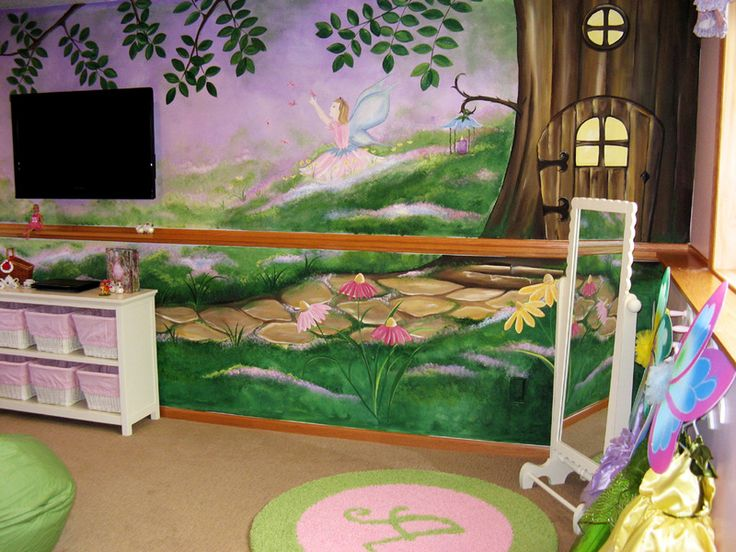60 best selva room images on pinterest frogs jungles for Fairy garden mural