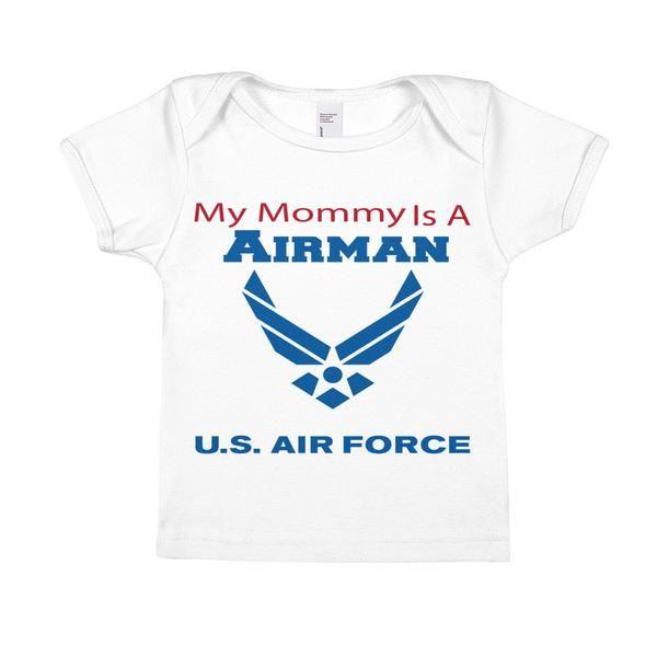 My Mommy is an airman - Infant Short-Sleeve Tee