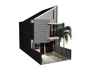 Desain Rumah Minimalis 5x9.5 Meter 2 Lantai
