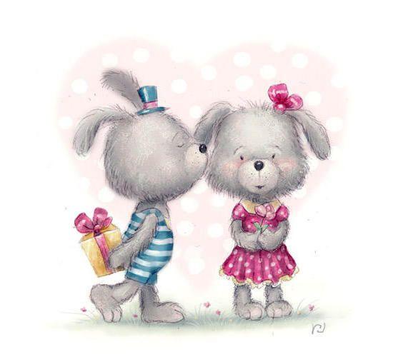 Я полюбила мальчика с открытки зайцев, днем врача поздравления