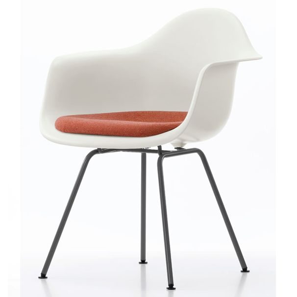 Vitra DAX Plastic Armchair With Upholstered Seat. Available To Buy Along  With Other Designs @