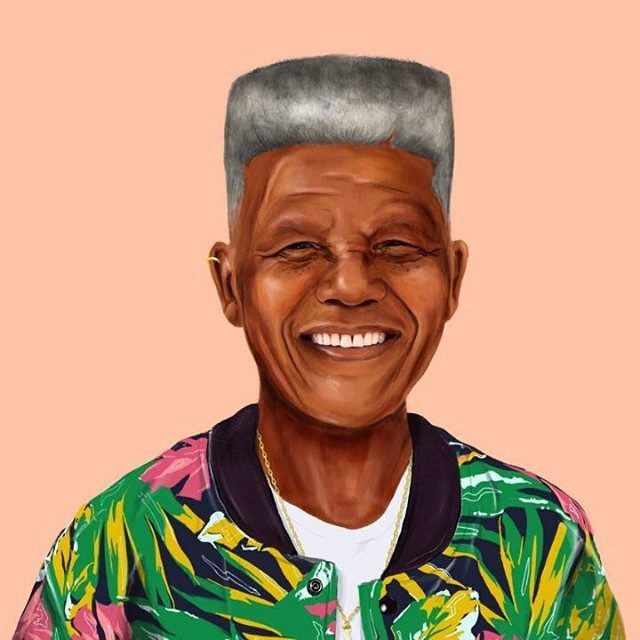 Nelson Mandela  This Creative Artist Re-Imaged 18 World Leaders As Hipsters • Page 4 of 5 • BoredBug