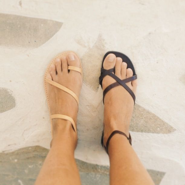 Greek sandals. Love the nude ones!                              …