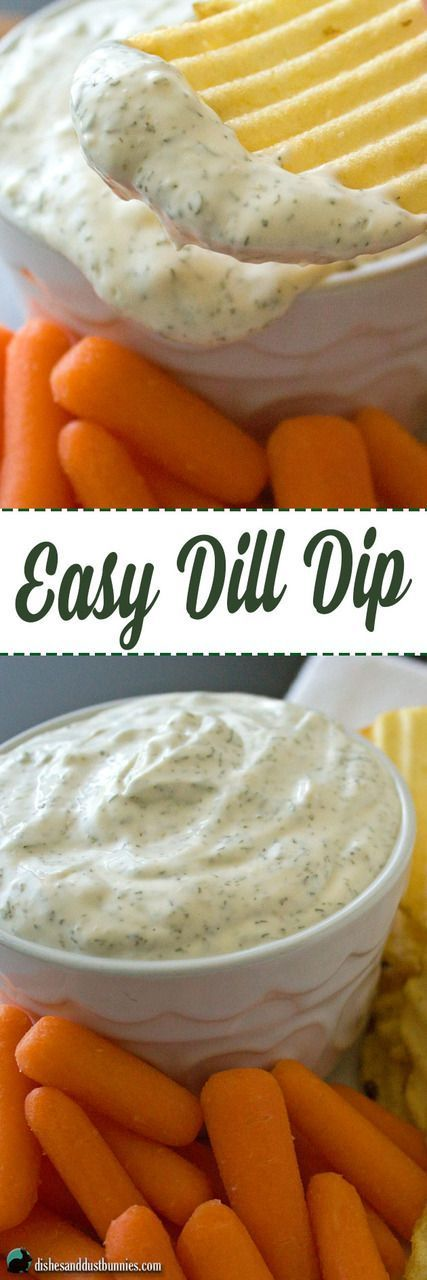 Easy Dill Dip Recipe from http://dishesanddustbunnies.com