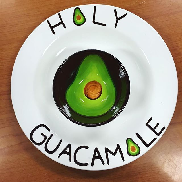 Youu0027ve guac to be kidding me this chip and dip c& piece looks delicious enough to eat! Come in and make your own bowl/plate combo for your favorite dip!  sc 1 st  Pinterest & 227 best plate u0026 platter ideas images on Pinterest | Pottery ideas ...