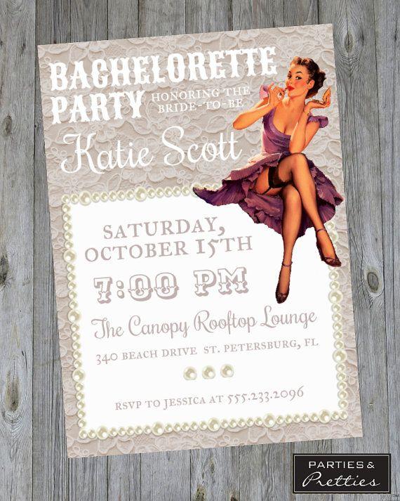24 best Invitations Announcements images – Vintage Bachelorette Party Invitations