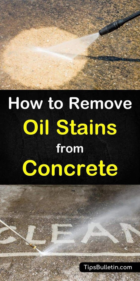 How To Remove Oil Stains From Concrete In 2019 Home