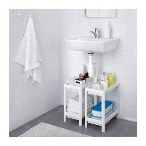 open shelf/ basket for under sink. 4.99 euros each VESKEN Open kast - IKEA