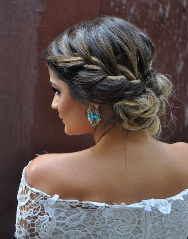 Hair / braids / hairstyles / blonde highlights / brunette hair / beauty / lace / summer trending